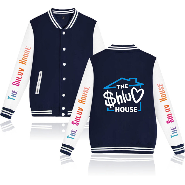 THE SHLUV HOUSE THEMED BASEBALL JACKET