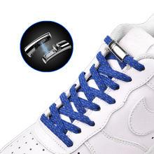 Shoelaces-Lock Magnetic Lazy-Laces Elastic Reflective Flat Metal 20-Colors Unisex To