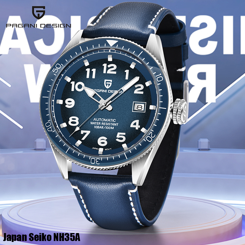 Men's Watches PAGANI DESIGN Top Brand Mechanical Sports Watch Men Automatic Date Business Wristwatch Men 100M Waterproof Clock