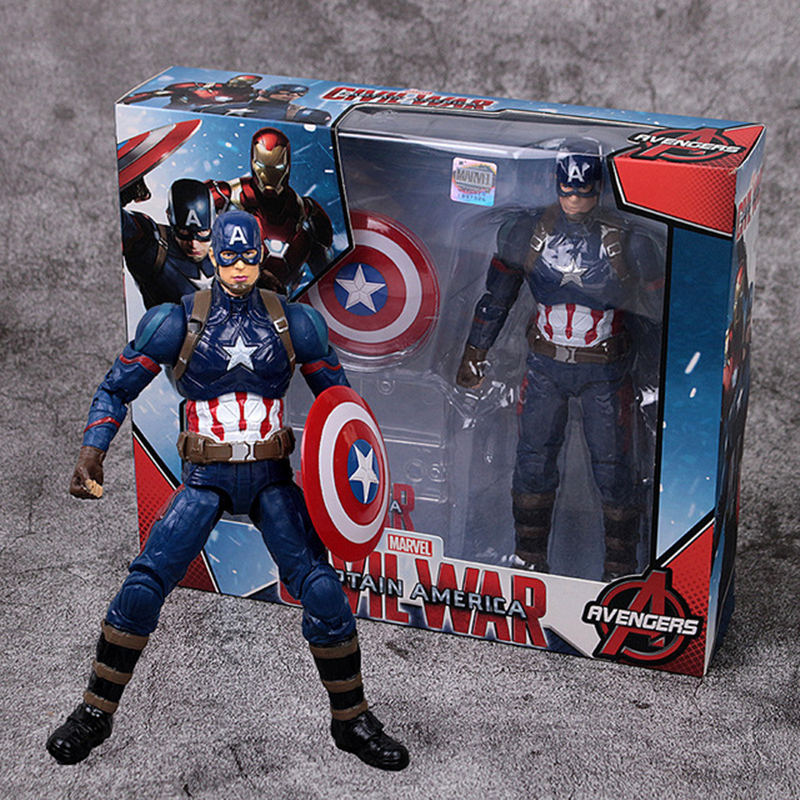 Disney Marvel Toys 17CM Avengers Infinity War Spiderman Captain America Iron Man Thanos Hulk Action Figure Dolls With Gift box