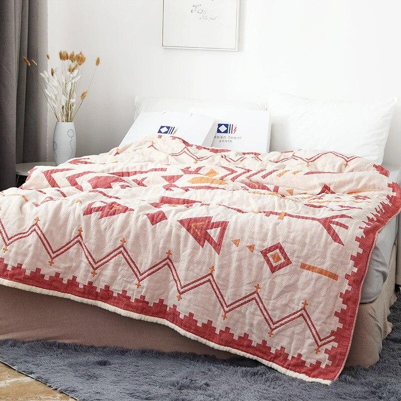 Junwell бамбуковое хлопковое муслиновое летнее одеяло, покрывало для кровати, диван, дышащая, шикарная, в индийском стиле, мягкая, для пикника, путешествий|Одеяла|   | АлиЭкспресс