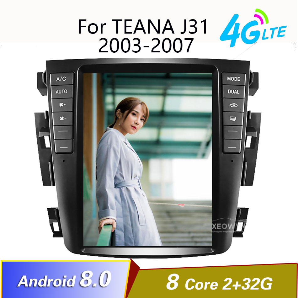 Android 8.1 Octa core 9.7 Car radio GPS for Nissan teana J31 2003-2007 230JK 230jm For Samsung S7 image