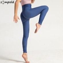 Simpold – pantalon de Yoga à rayures, collant taille haute, séchage rapide, Legging de Jogging sans couture, tissu élastique, pour l'entraînement, 6098