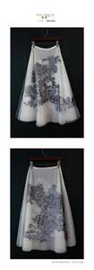 Image 2 - 新しいivchunオートクチュールガウンライオン動物刺繍ネット糸シルク裏地スカート