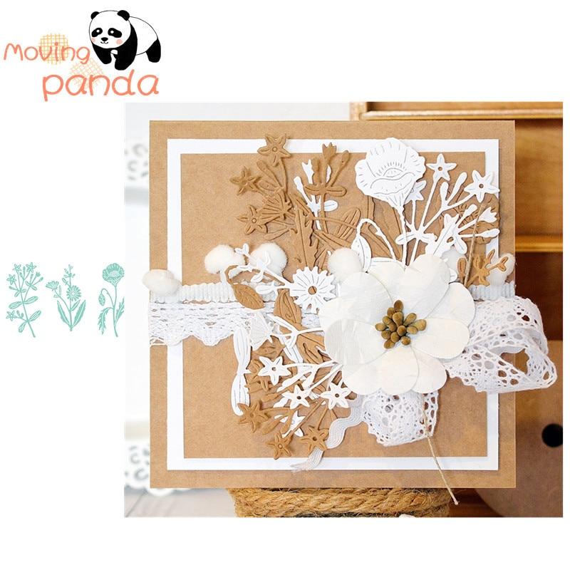 Hibiscus Flower Frame Metal Cutting Dies Scrapbooking Album  Embossing Stencil