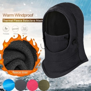 Hiking Cossack Cap Ski Mask for Women Men Outdoor Sport Equipment Riding Snow Scarf Winter Thermal Faux Fur Polyester Ski Hat image