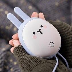 Przenośne śliczne USB akumulatorowe ogrzewacze do rąk podgrzewacz kieszonkowy Mini kreskówkowy powerbank poręczne podgrzewacze