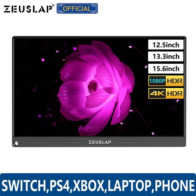 """12.5 """"13.3"""" 15.6 """"نوع C USB C HDMI DP 1080P 4K سامسونج شاشة رصد المحمولة للتبديل ، PS4 ، XBOX ، كمبيوتر محمول ، الهاتف المحمول"""