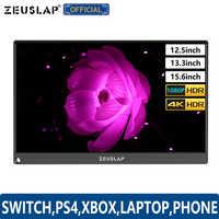 """12.5 """"13.3"""" 15.6 """"typ C USB C HDMI DP 1080P 4K ultracienkich przenośny monitor ekran dla przełącznika, PS4, XBOX, Laptop, telefon komórkowy"""