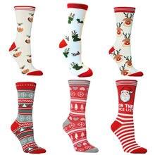 Новые рождественские носки дышащие подарки в виде снежинки Санта