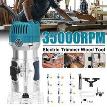 Recortadora manual eléctrica de 3000W 6,35mm 220V con enchufe para UE, máquina para cortar láminas de madera, cortador, carpintería