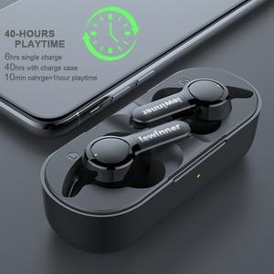 Image 2 - Lewinner TS04 TWS True Wireless Earphones with 2 Microphones, CVC 8.0 Noise Reduction, 40H Playtime, IPX7 Waterproof headset