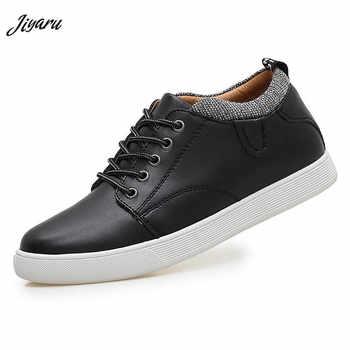 Men Casual Shoes Invisible Hidden Heels Male Shoes Rubber Anti-slip Soles Round Toe Men Flats Splicing Design Outside Men Shoes