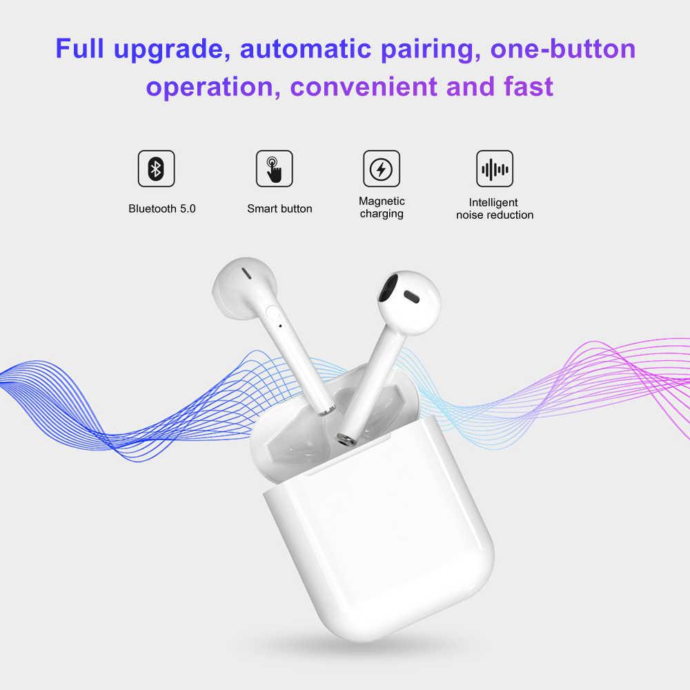 I9s TWS bezprzewodowy zestaw słuchawkowy Bluetooth Stereo na wszystkie telefony komórkowe sportowe słuchawki douszne do iphone'a niewidoczne słuchawki z skrzynka do ładowania