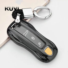 Hight quality PC+TPU Car Styling Soft TPU Key Case Shell For Porsche Panamera Cayenne key Cover Accessories