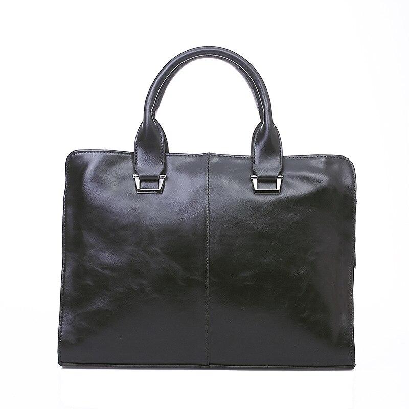 New Men's Handbag Cross-section Briefcase Men's Bag Shoulder Messenger Business Computer Bag 13 Inch