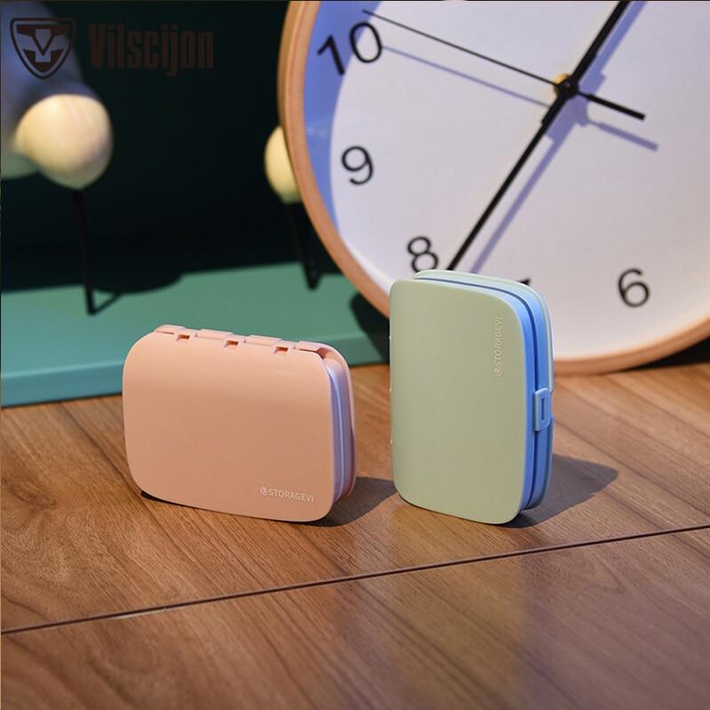 Vilscijon Storage-Box Seal Small Mini Dispensing Pill-Box Large-Capacity Portable U022