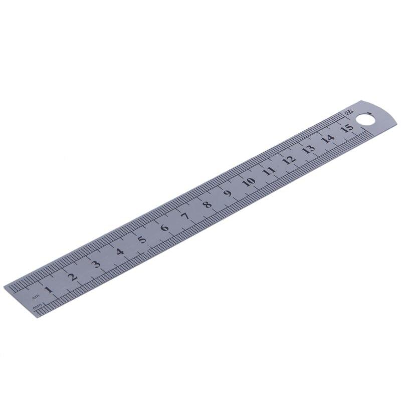 15cm 6 Inch Stainless Metal Ruler Measuring Tool