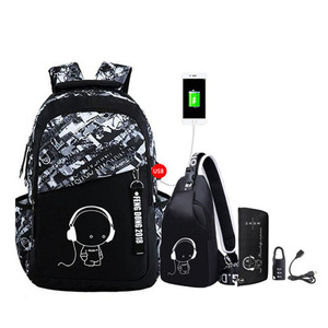 Image 2 - Luminous oxford school bags for teenage boys large backpack for teenagers bagpack high school backpack student casual travel bag