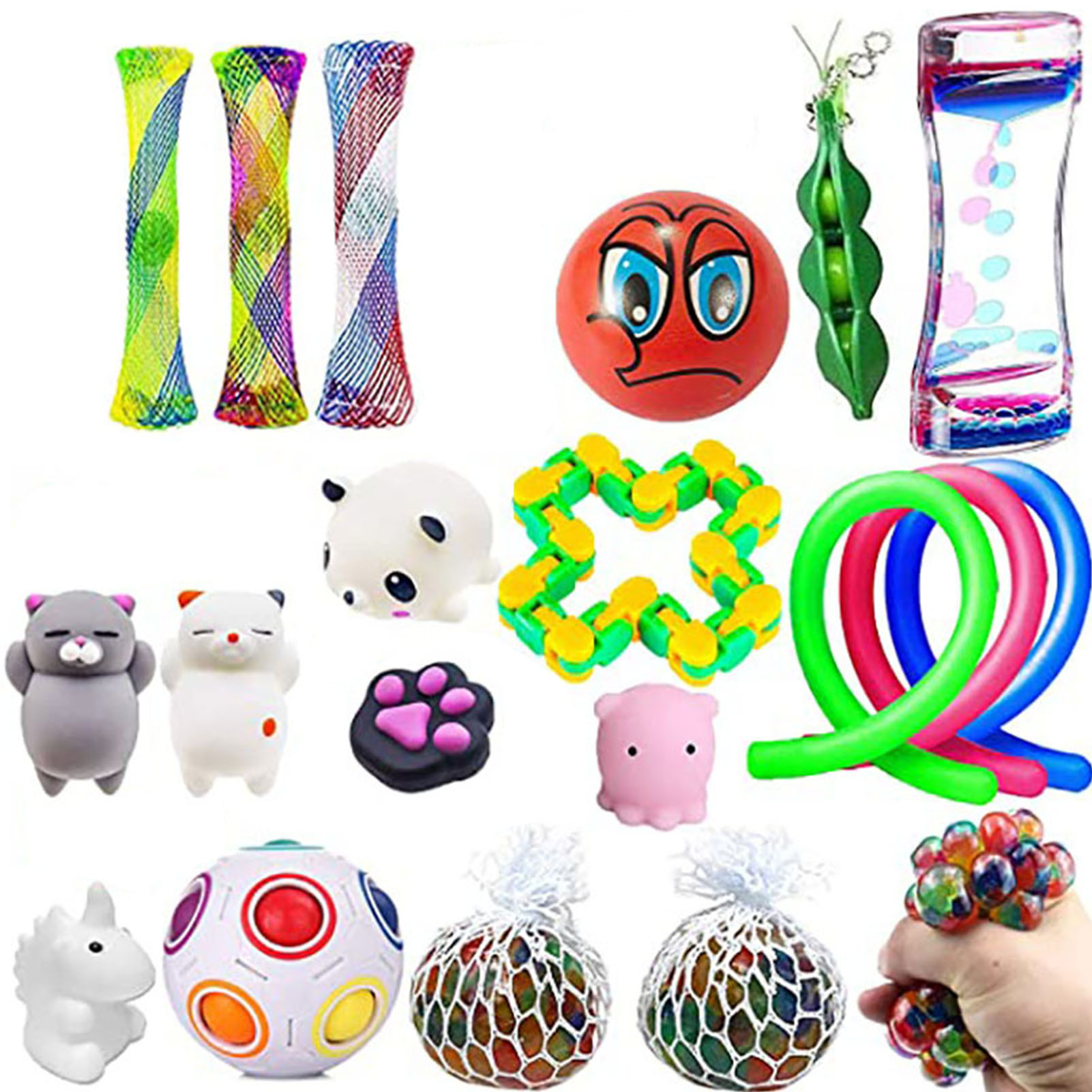 1 Pack Fidget Sensory Toy Set Stress Relief Toys Autism Anxiety Relief Stress Pop Bubble Fidget Sensory Toy For Kids Adults enlarge