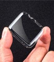 Funda protectora de TPU para Apple watch, Protector de pantalla de 44mm, 40mm, 42mm, 38mm, series 6, 5, 4, 3 SE, accesorios