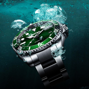 Image 2 - DOM Casual Business Watches Men Green Top Brand Luxury Solid Steel Wrist Watch Man Clock Fashion Waterproof Wristwatch M 1263