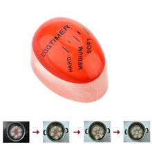 1Color huevo temporizador Material de resina perfecto huevos por temperatura ayudante de cocina temporizador rojo herramientas de temporización