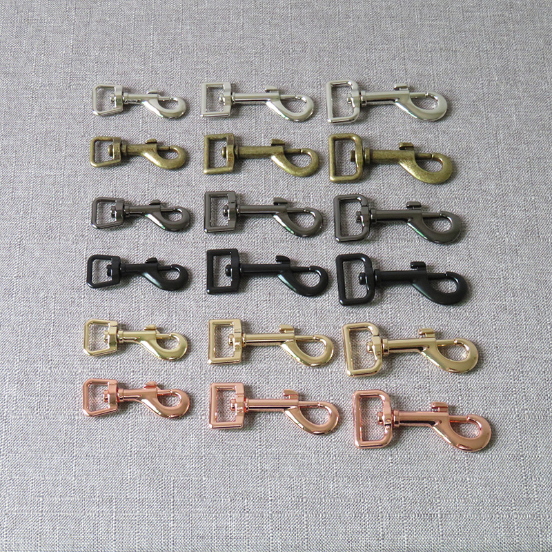 1 Pcs 15mm 20mm 25mm Metal Buckle Carabiner DIY Bag Dog Leash Leads Belt Strap Clip Lobster Clasps Sewing Accessory Hardware