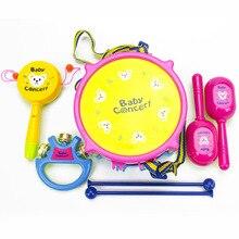 [Led Moving] Детские игрушки детский музыкальный инструмент барабан shuang mian gu экологически чистый ABS пластик Детский Музыкальный барабан