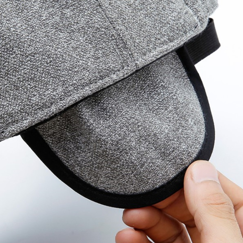 SILOQIN Man 39 s Baseball Cap Autumn Winter New Middle aged Elderly Warm Windproof Tongue Caps Adjustable Earmuffs Leisure Dad Hats in Men 39 s Baseball Caps from Apparel Accessories