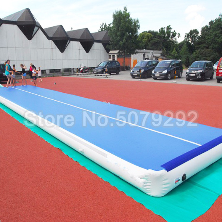 Free Shipping Free Pump Inflatable Air Track Mats 6M/7M/8M Gymnastics Mats For Taekwondo Big Size Tumbling Track Air Floor Cheap