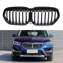 New X1 Car Front Bumper Kidney Grille for BMW X1 F48 2020 Gloss Black Racing Grills Auto Accessories High Quality ABS