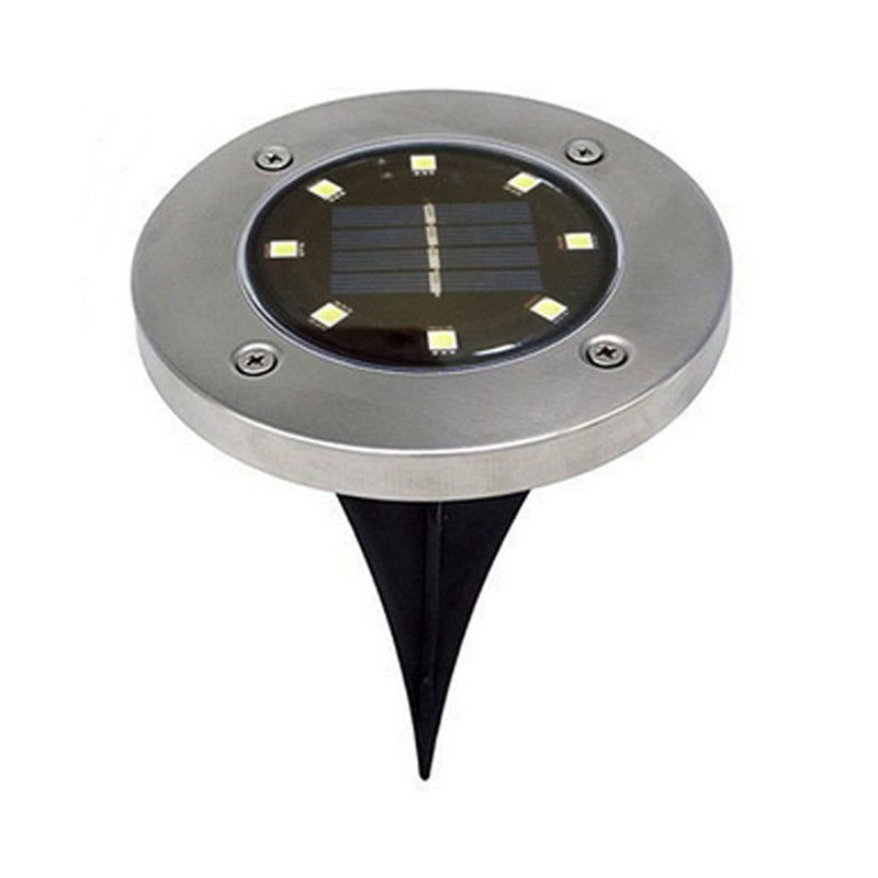 Image 2 - Solar Powered Disk Lights 8/12 LED Solar Pathway Lights Outdoor Waterproof Garden Landscape Lighting for Yard Deck Lawn Patio-in LED Lawn Lamps from Lights & Lighting