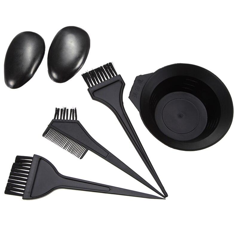 Набор из 5 шт./компл., искусственная расческа, наушники из черного пластика, окрашивание волос, парикмахерские инструменты для укладки