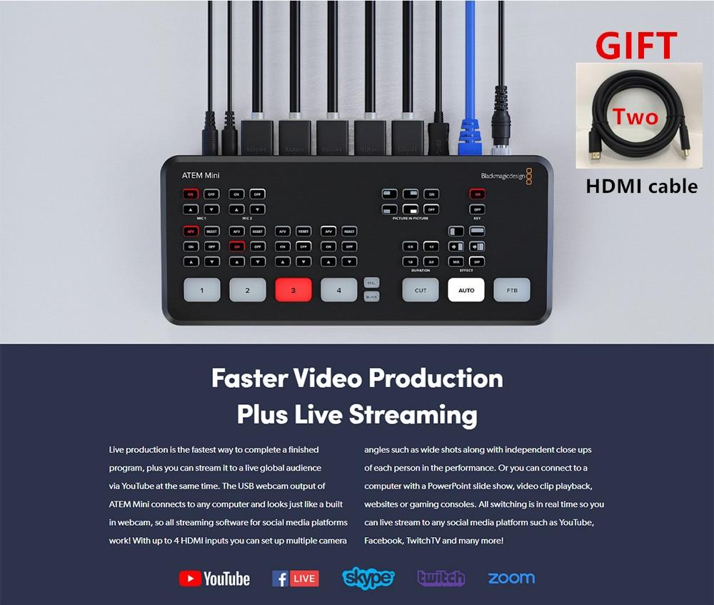 Original Blackmagic Design ATEM Mini Pro / ATEM Mini HDMI Live Stream Switcher Multi-view and Recording New Features