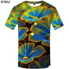 KYKU Flower T shirt Men Psychedelic T-shirt 3d tshirt Funny shirts Print Gothic Harajuku Mens Short Sleeve summer 2019