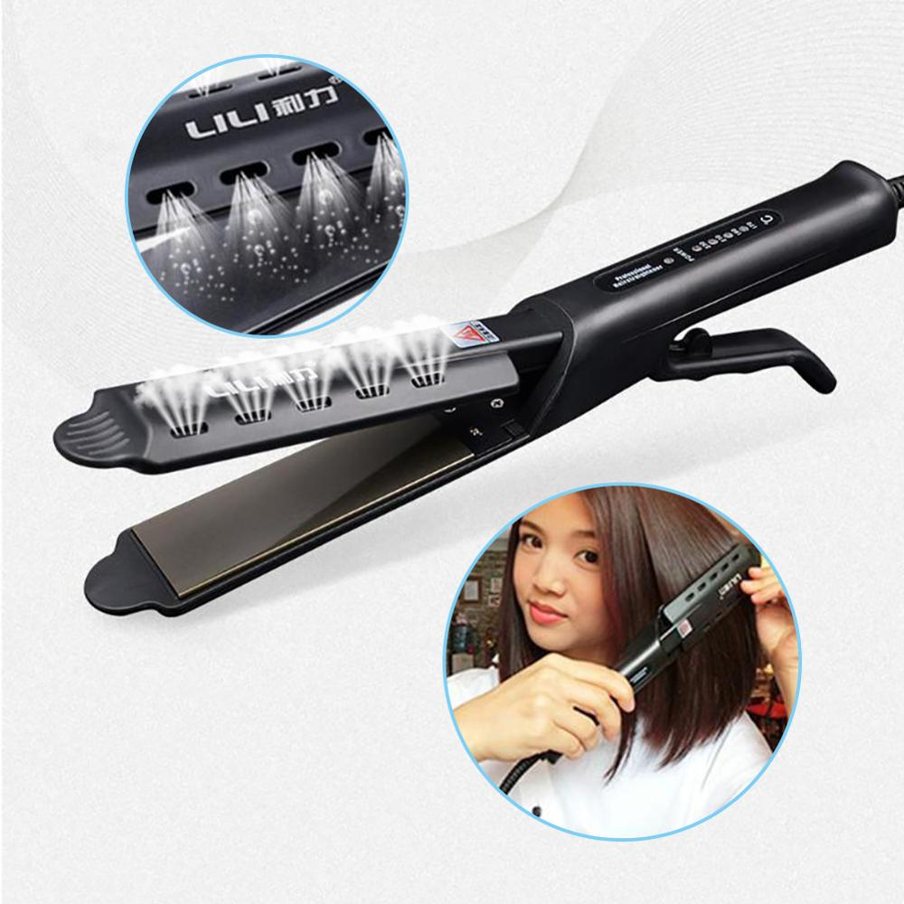 HS-1808 Professional Electric Hair Straightener Straightening Hair Flat Iron Iron Steam Ceramic Vapor Hair Styling Tool 220V