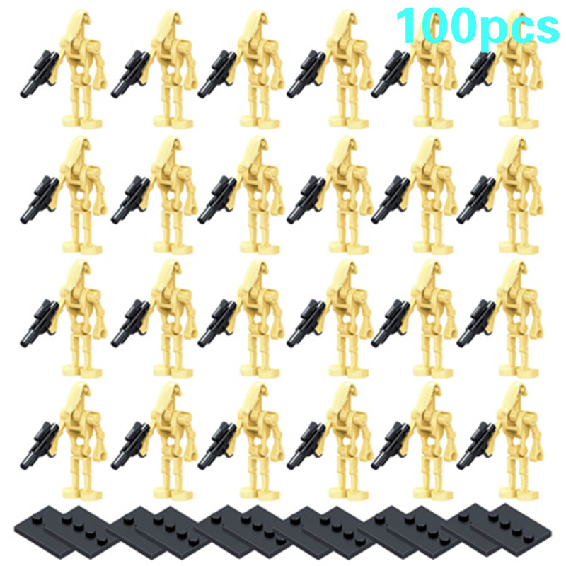 100 pecas lote star wars super batalha droid ro gr k2so figuras starwars modelo conjunto blocos