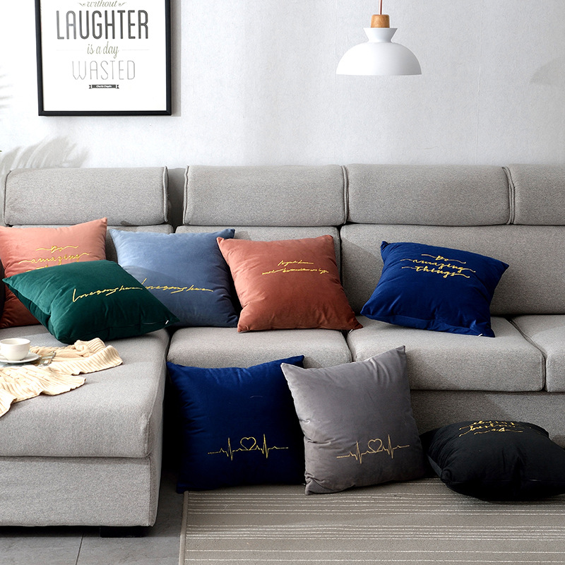 Pillow Sofa Bed Head Waist Cushion Pillowcase Living Room Sofa Decorations Velvet Pillowcases For Home Nordic Pillow Cover