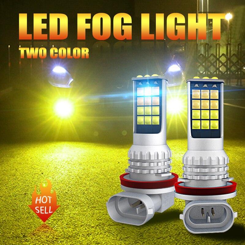2 шт. туман светильник H4 светодиодный H3 H7 9005 HB3 9006 HB4 H8 H9 H11 H16 5202 P13W автомобиля, вождения, бега, светильник передняя противотуманная фара 6000 К бе...