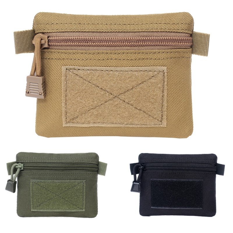 Outdoor Multifunction Key Card Case Multifunctional Sports Zipper Bags Portable Coin Purse Outdoor Commuter Military Tactical