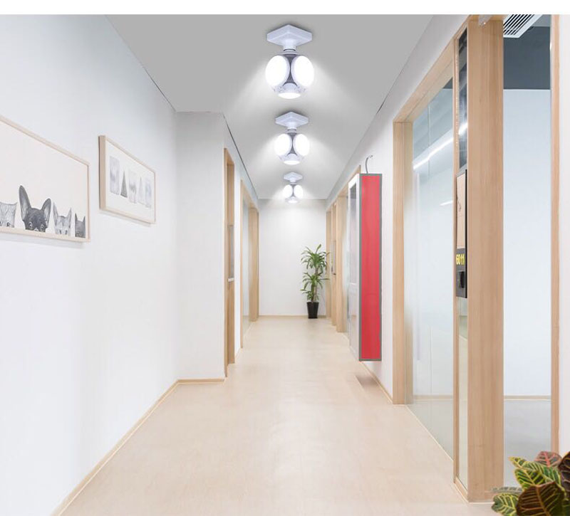 Adjustable Deformable Football Light LED UFO Ball Bulb E27 Ceiling Bar Lamp for Bedroom Study Living Room Home Decor 5 Colors
