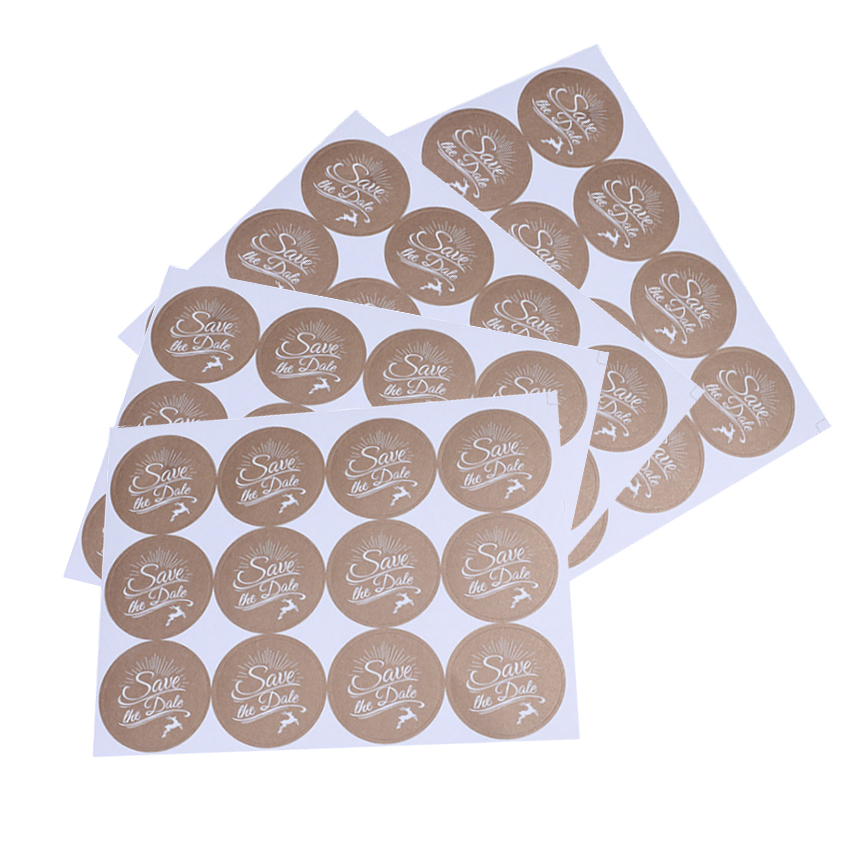 120Pcs/pack High Quality Adhesive Stickers Save The Date Cake Baking Package Seal Sticker