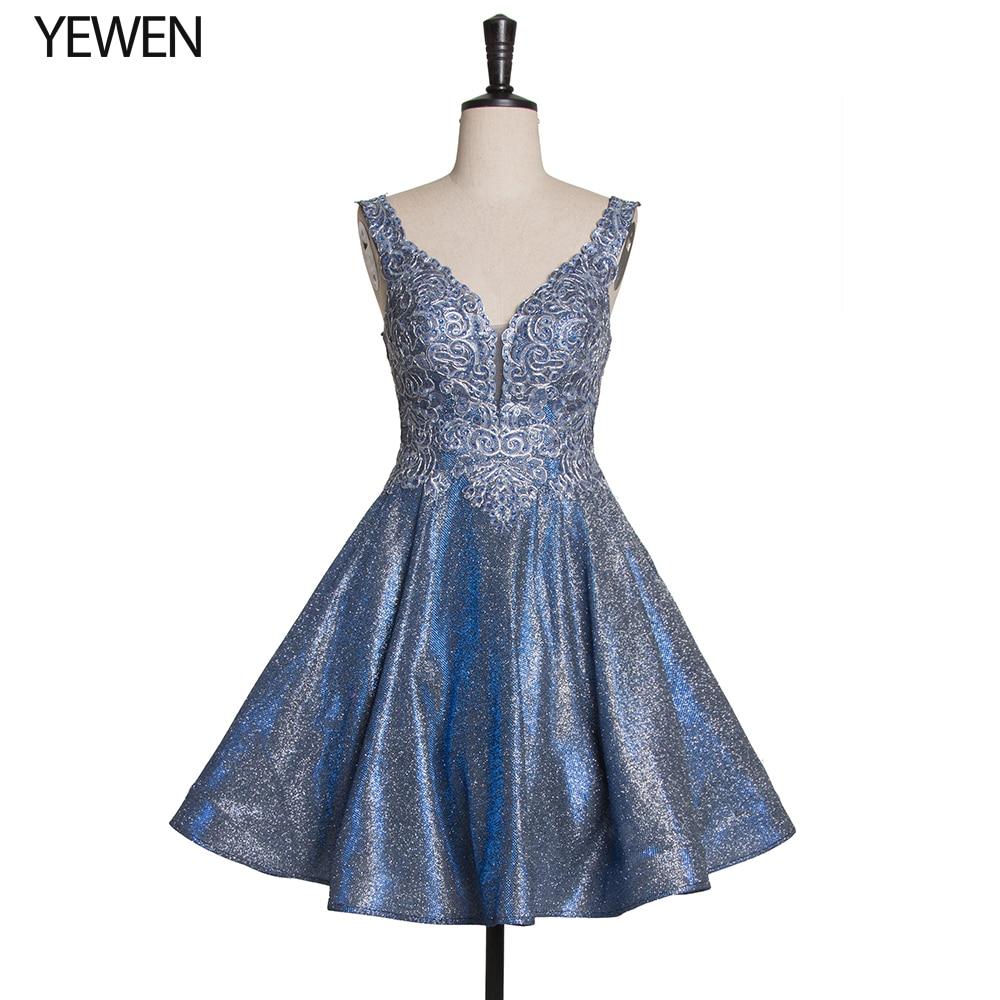 Short Beading Prom Dress Vintage Sequined Formal Party Dress Deep V-neck Corset Backless