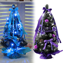 Christmas Tree Battery Operated Decoration Artificial Mini With Light Pine Cone Festival Home Tabletop Party Craft PVC Ball
