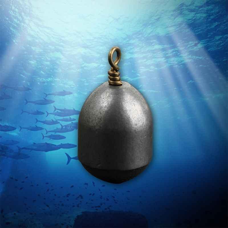 5 pçs/set em forma de coração oval pesca chumbo gota plummet 4/7/10/14/20g mar gota prumo bob engrenagem de pesca pxpf
