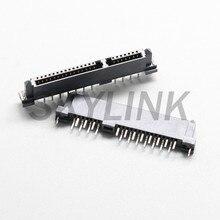 Conector sata fêmea 7p + 15p 22pin dupla linha de deslocamento pino disco rígido interface conector soquete