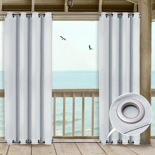 nicetown rideaux d exterieur pour patio draperies impermeables resistantes a la moisissure avec œillets superieurs et inferieurs