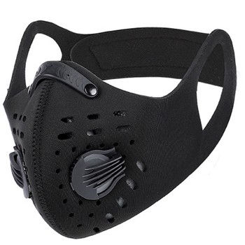 Bike Face Mask With Filter Activated Carbon Mesh Cycling Half Facemask for Outdoor Sports Unisex Dust Reusable Masks маска#K image