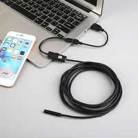 Gizcam 1 m/1,5 m/2 m 7mm Wasserdicht für Android USB Endoskop FÜHRTE Inspektion Endoskop Rohr mini Video Kamera Camcorder Schwarz video